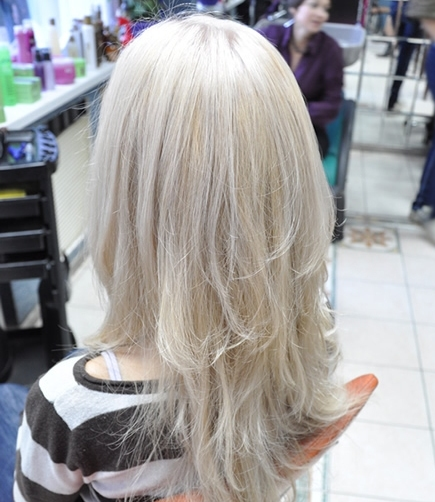 Осветление блондирование