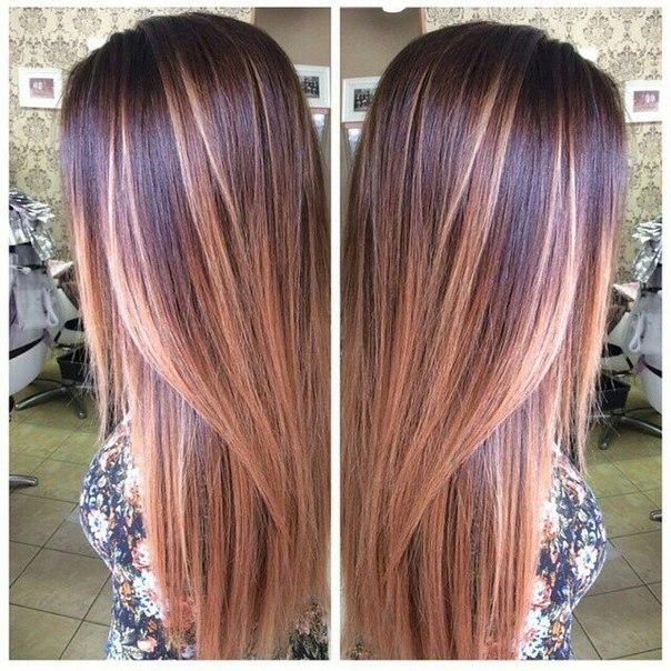 Окрашивание волос модно фото